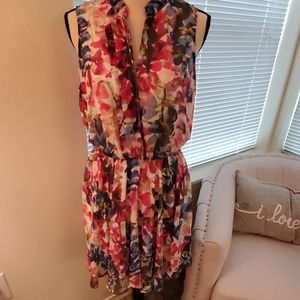 mimi chica Pink Floral Dress Size Large